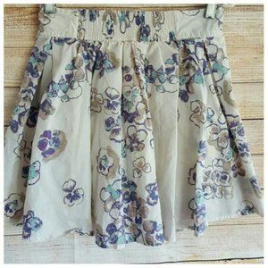 Frenchi Floral Short Skirt Pull On Pleated Size XS